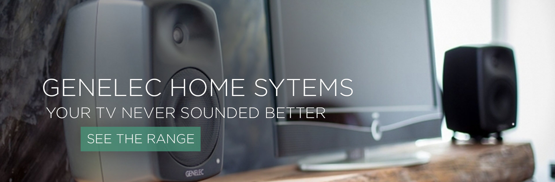GENELEC G SERIES HOME SYSTEMS FOR TV AND HIFI