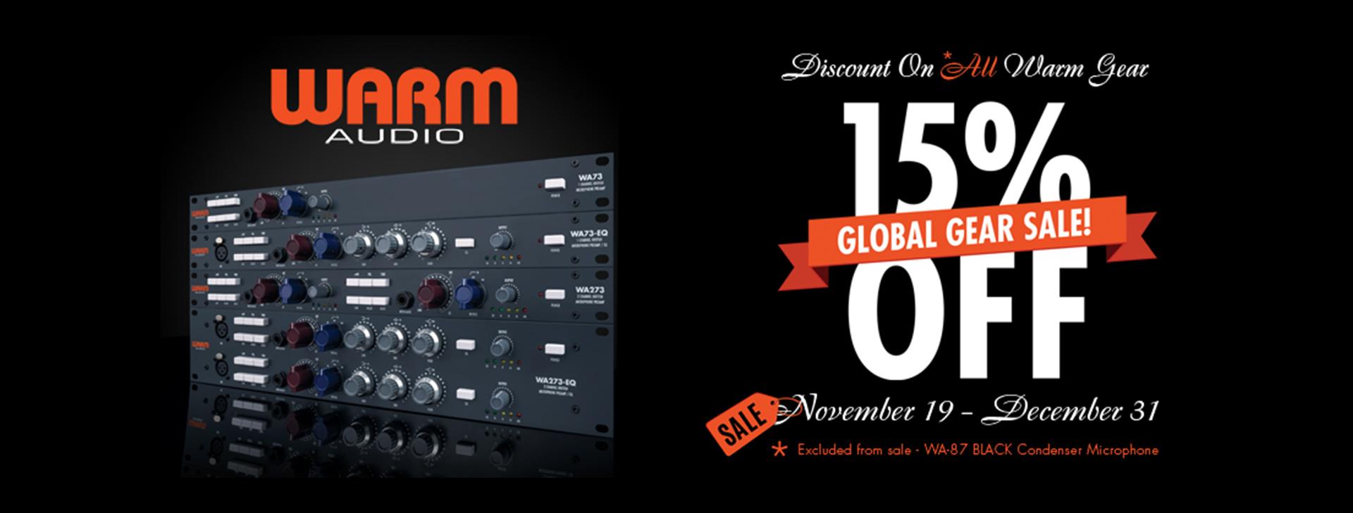 Warm Audio 15% off Promo