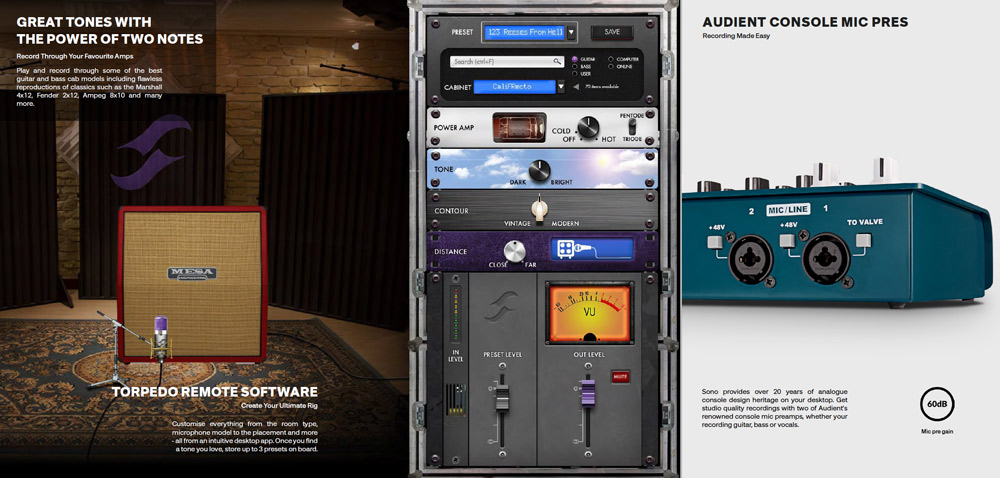 Audient Sono Two Note Software