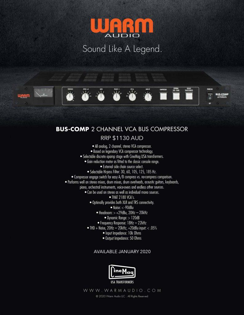 Warm Audio bus compressor