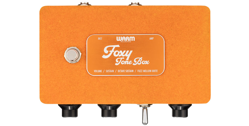 warm audio foxy pedal top